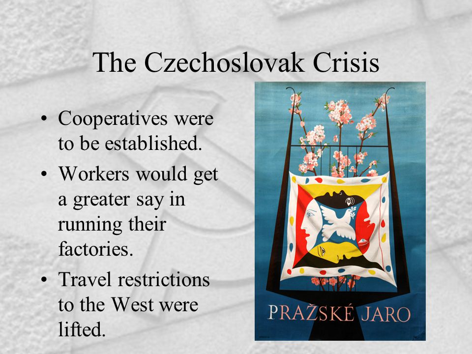 The Czechoslovak Crisis Cooperatives were to be established.