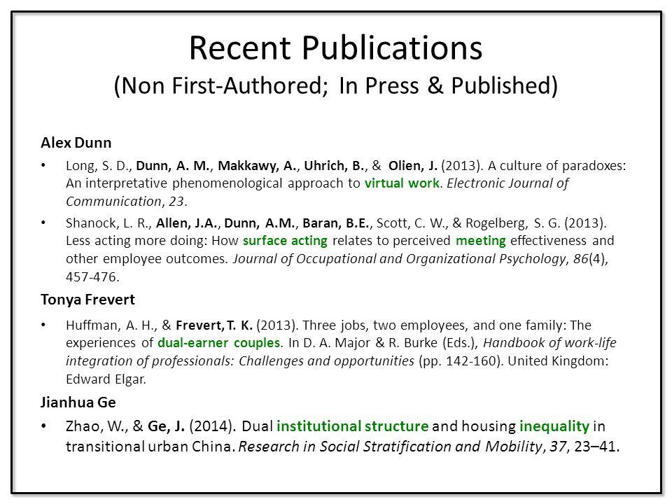 Alex Dunn Long, S.D., Dunn, A. M., Makkawy, A., Uhrich, B., & Olien, J.