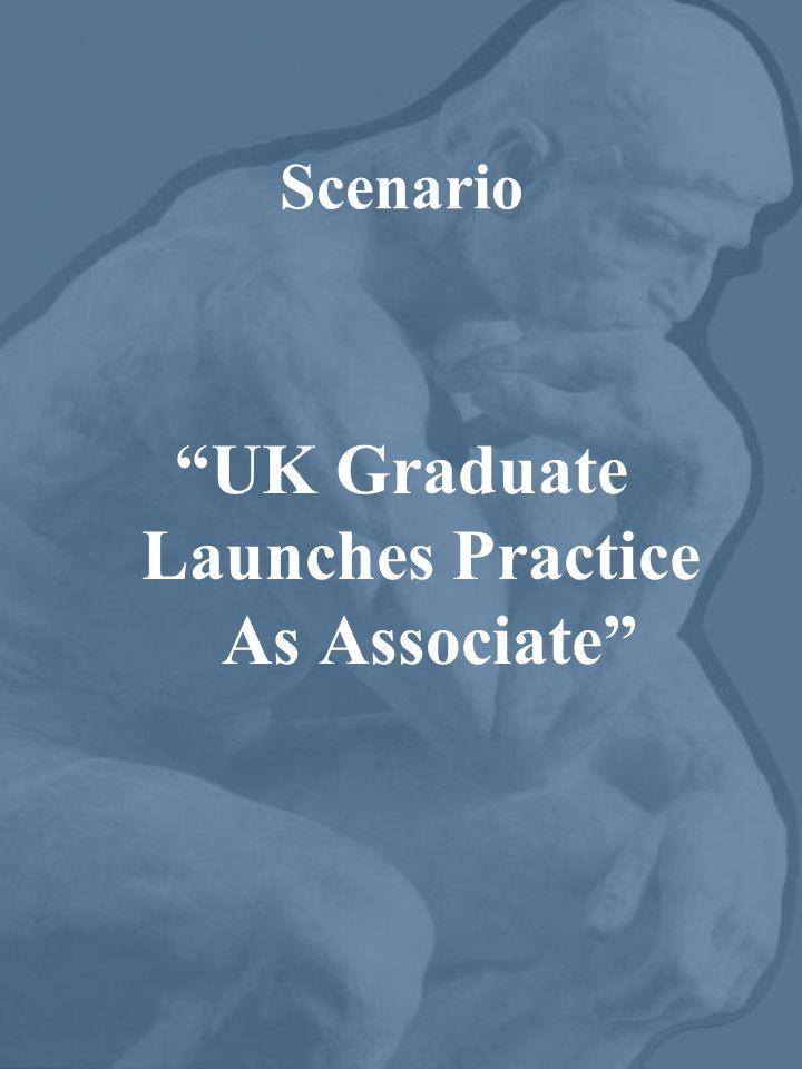 """Scenario """"UK Graduate Launches Practice As Associate"""""""