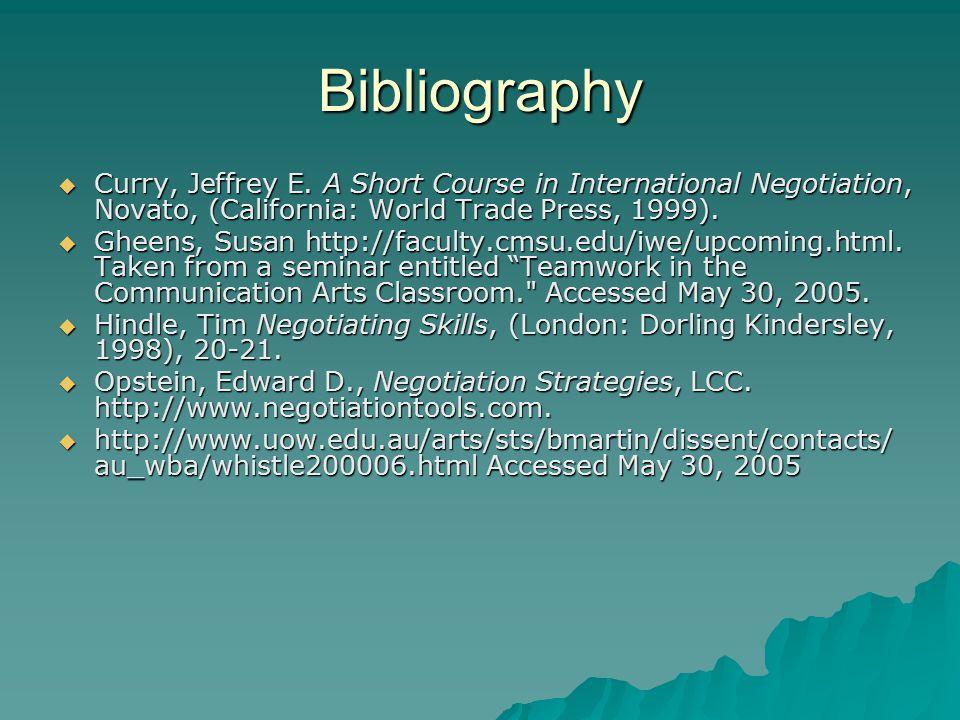Bibliography  Curry, Jeffrey E.