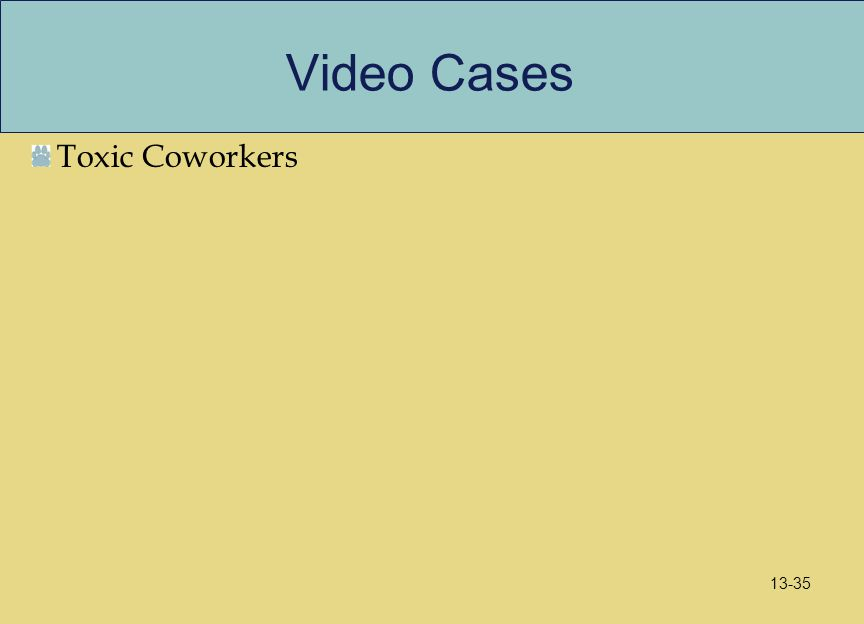 Video Cases Toxic Coworkers 13-35