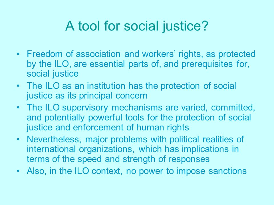 A tool for social justice.