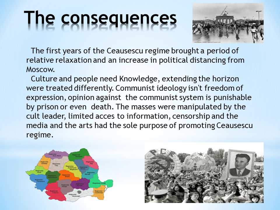 The first years of the Ceausescu regime brought a period of relative relaxation and an increase in political distancing from Moscow.