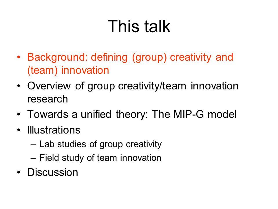 Innovation implementation