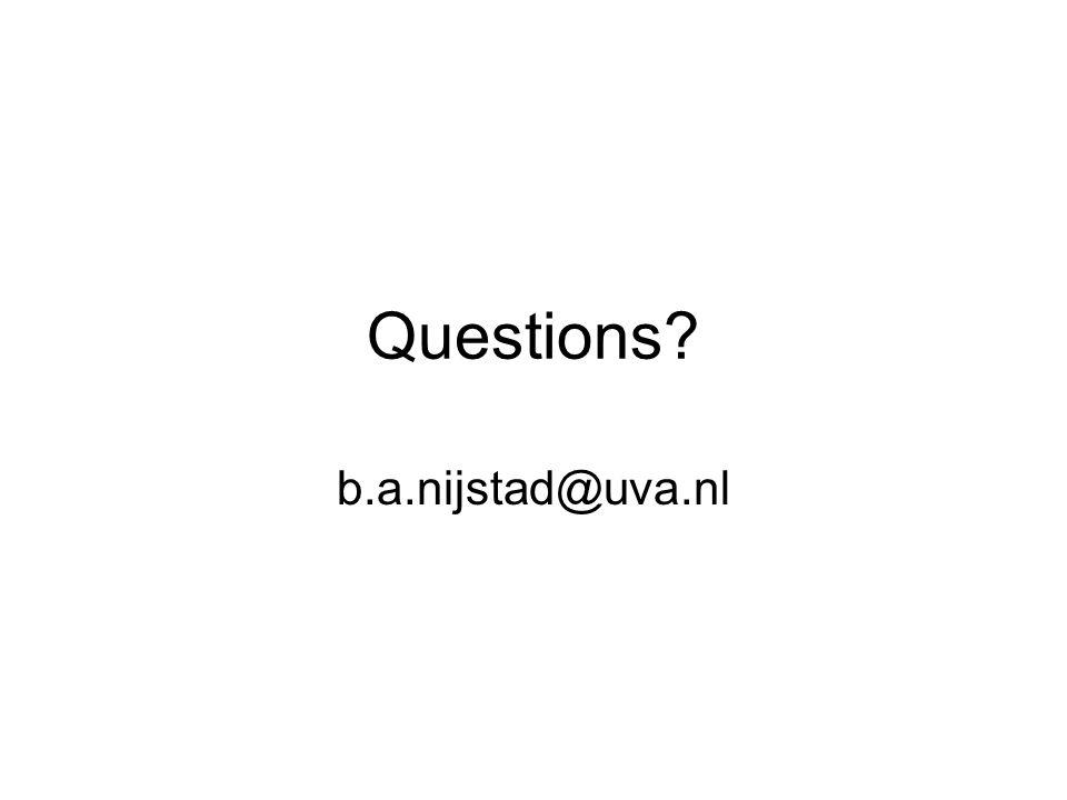 Questions? b.a.nijstad@uva.nl