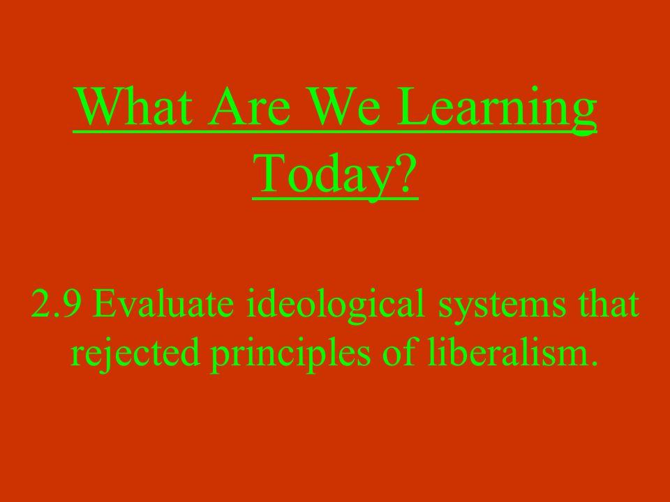 What Are We Learning Today.