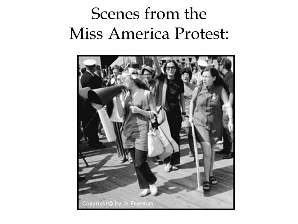 Scenes from the Miss America Protest:
