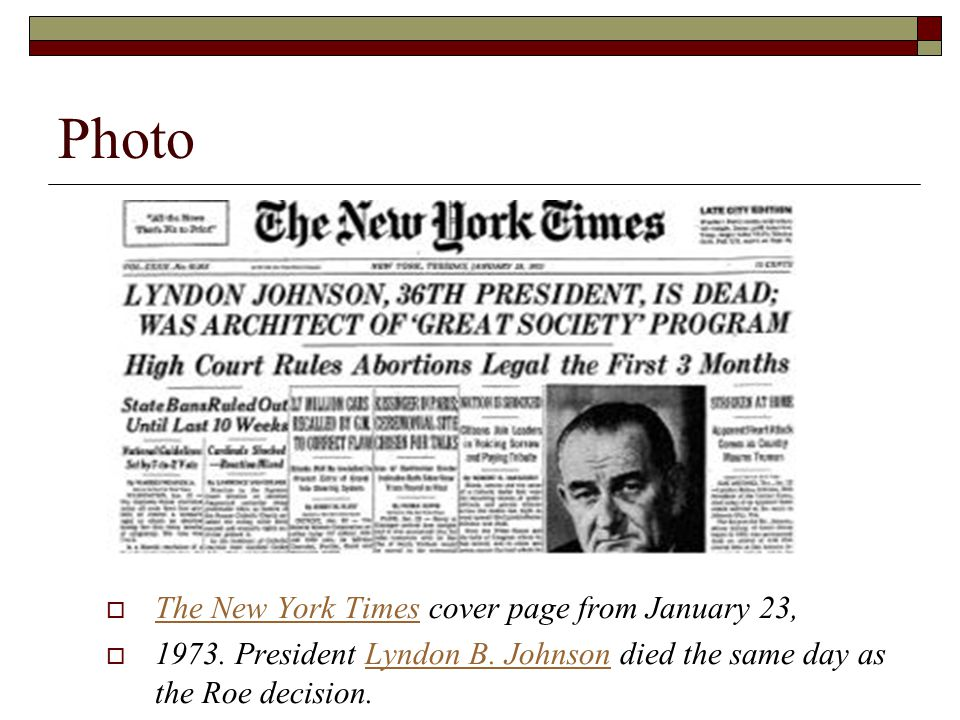 Photo  The New York Times cover page from January 23, The New York Times  1973.