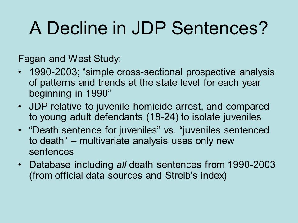 A Decline in JDP Sentences.