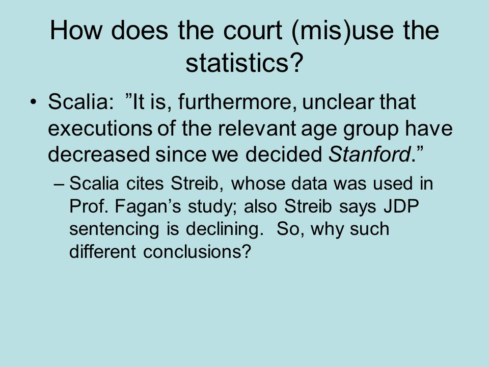 How does the court (mis)use the statistics.