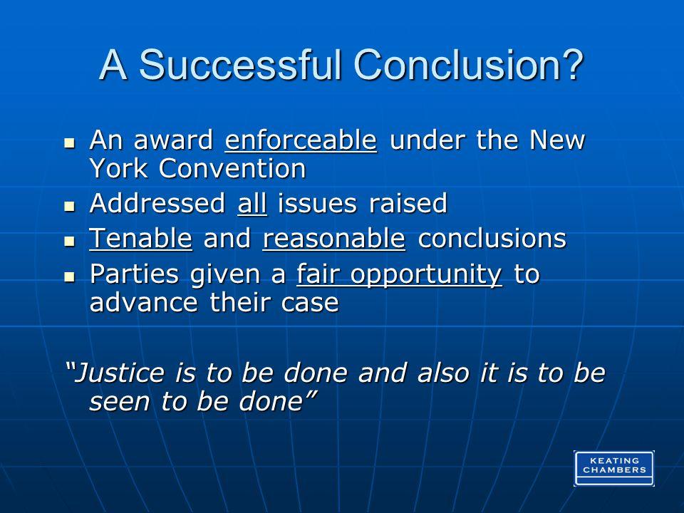 A Successful Conclusion.