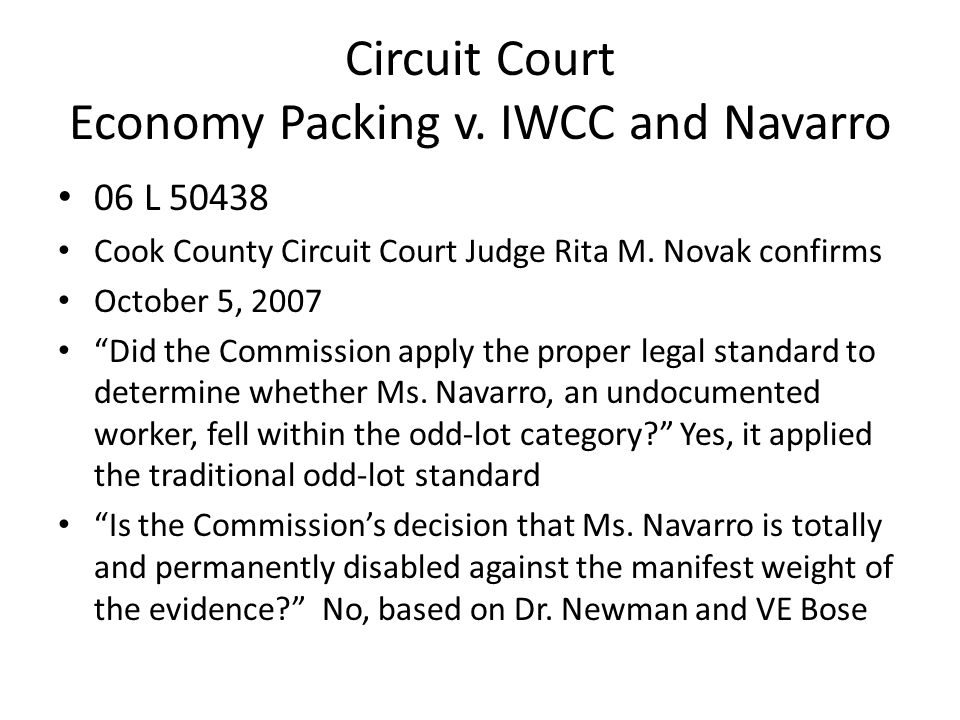 Circuit Court Economy Packing v.