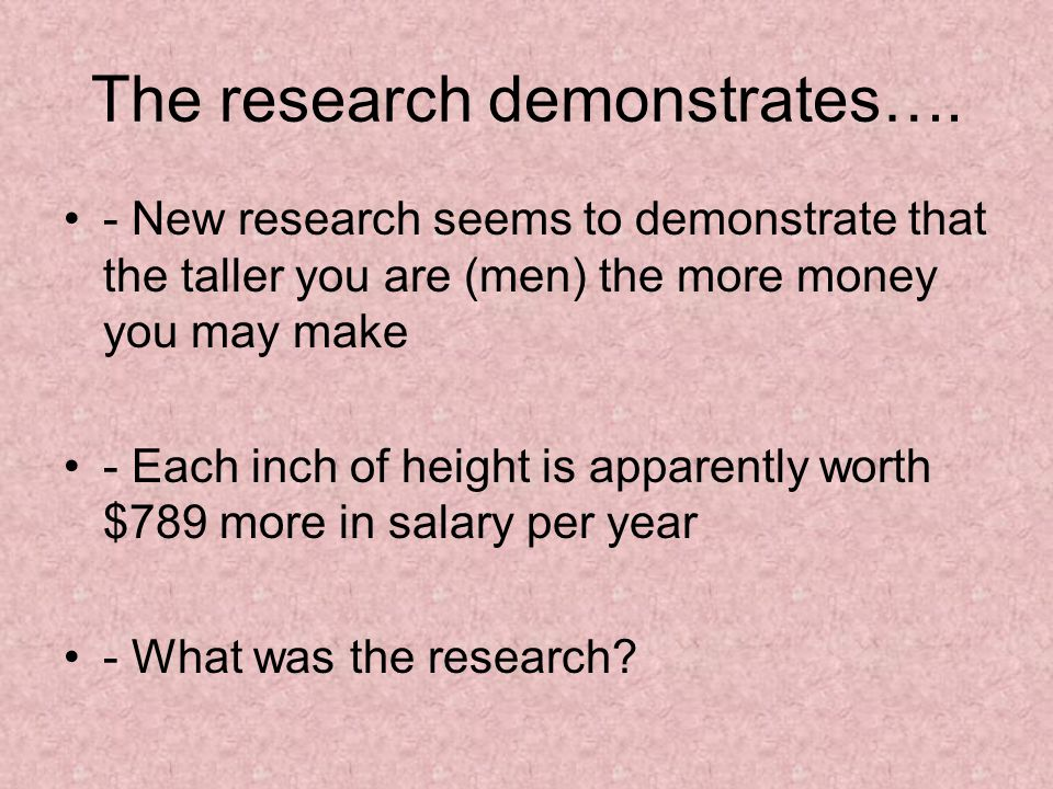 The research demonstrates….