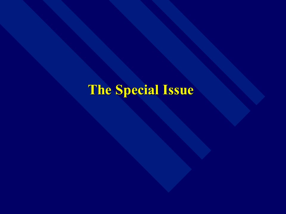 The Special Issue