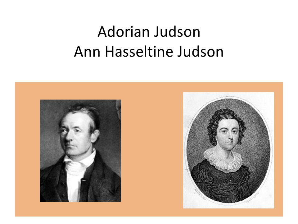 Adorian Judson Ann Hasseltine Judson