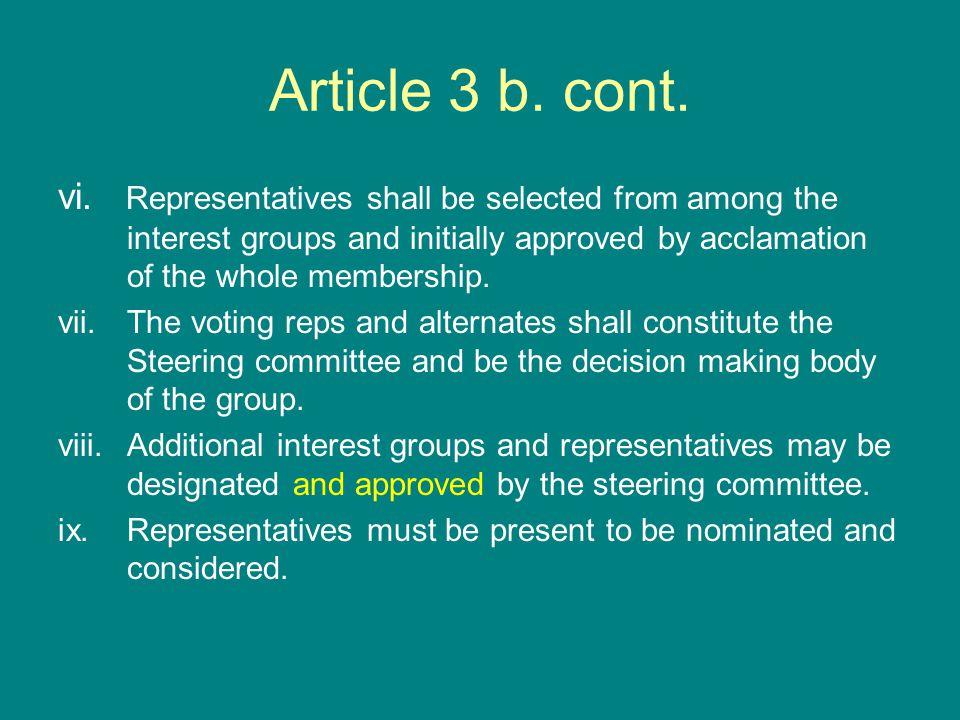Article 3 b. cont. vi.