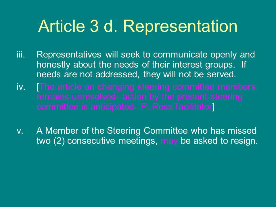 Article 3 d.