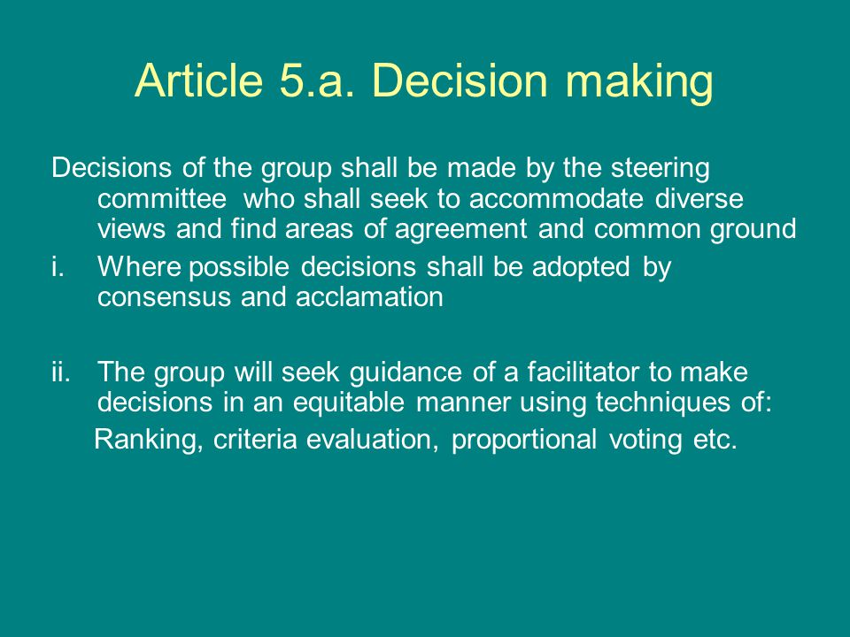 Article 5.a.