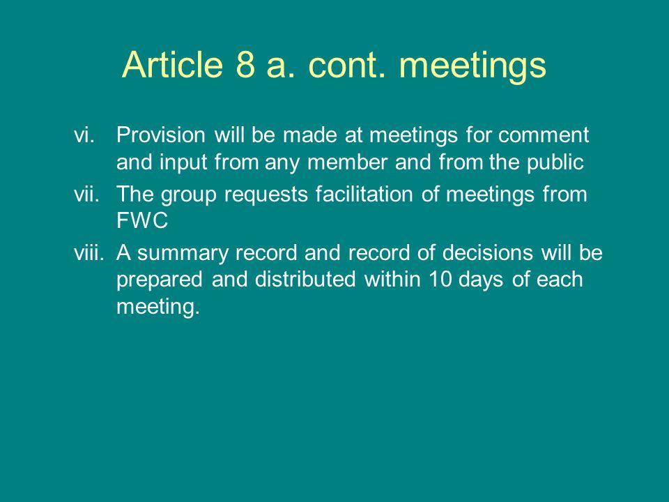 Article 8 a. cont.
