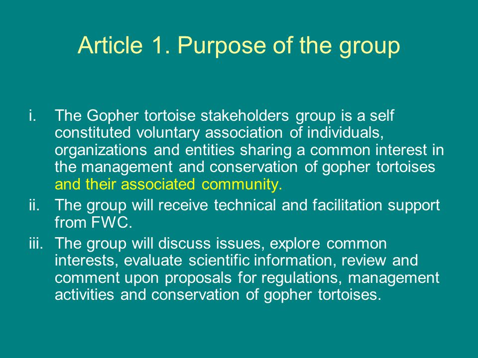 Article 1.