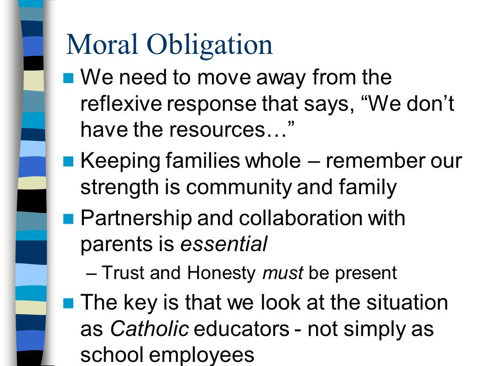 Public School Obligation –Assessment of students PSP - provides useful information - we are under no obligation to meet the requirements of an IEP but they can be informative –Consultation –Teacher education & training (Title IIA Funds) Establish a good relationship with LEA –Diocesan office should be a great resource to help guide principals in dealing with local districts