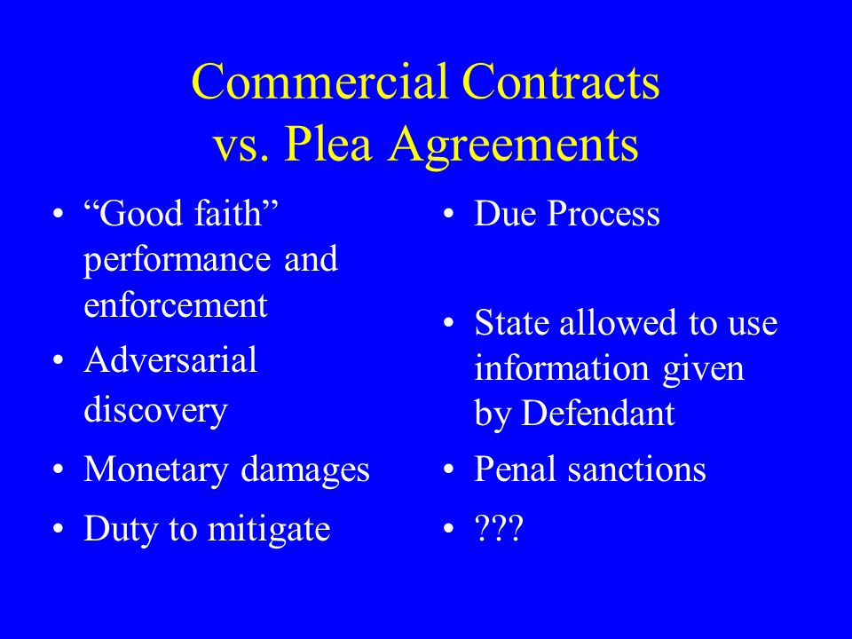 Commercial Contracts vs.