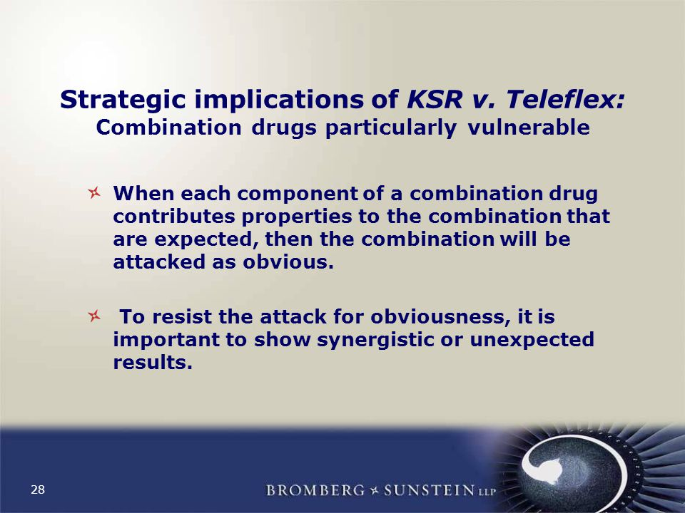 28 Strategic implications of KSR v.