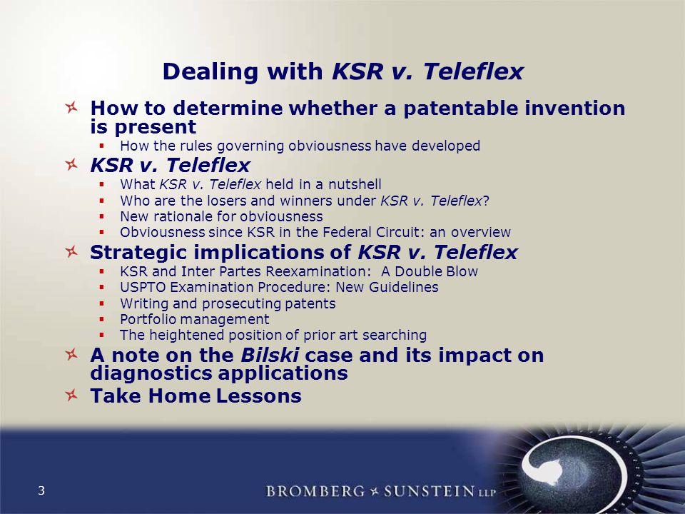 3 Dealing with KSR v.