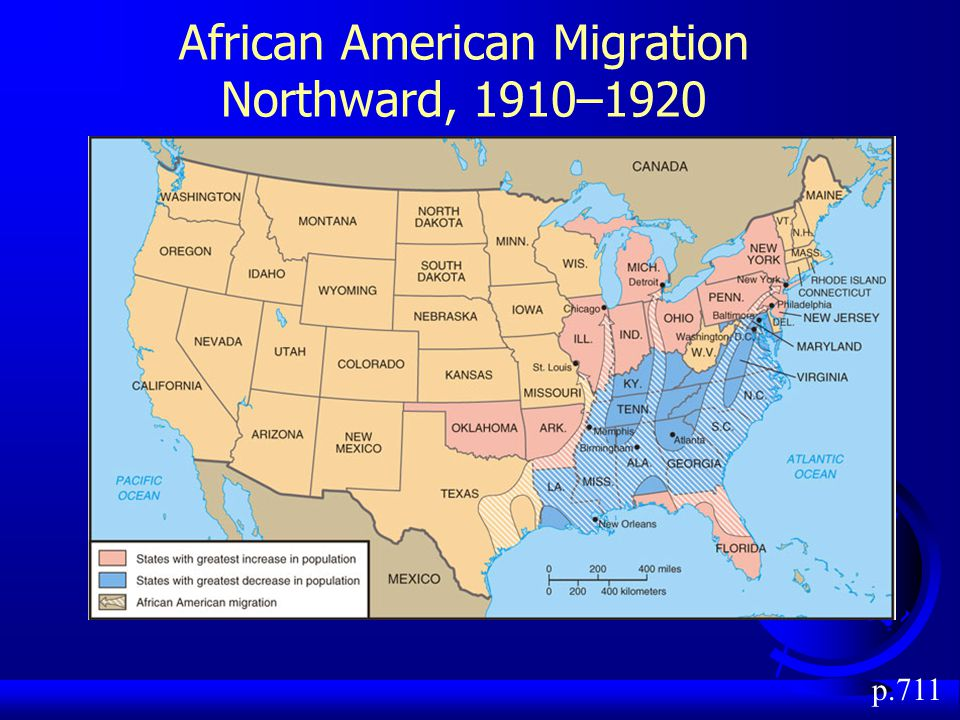 African American Migration Northward, 1910–1920 p.711