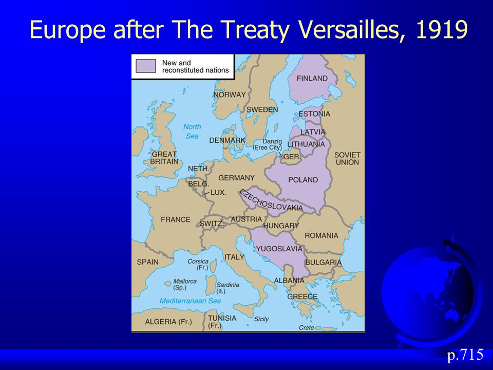 Europe after The Treaty Versailles, 1919 p.715