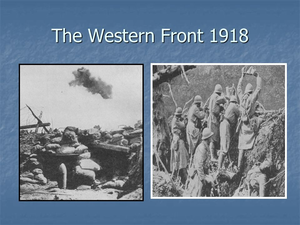 The Western Front 1918