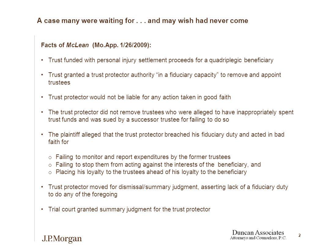 13 Are non-trustee trust participants fiduciaries.