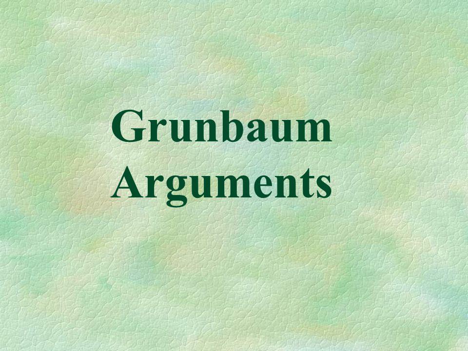 Grunbaum Arguments