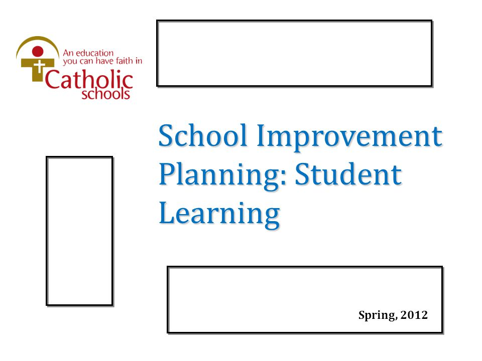 School Improvement Planning: Student Learning Spring, 2012
