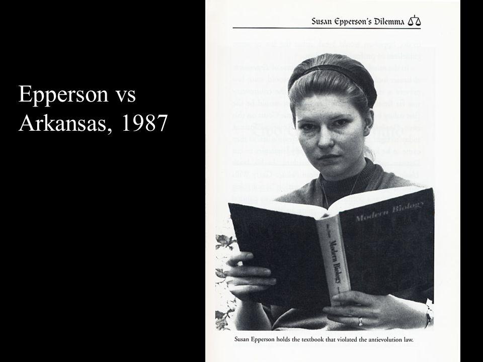 Epperson vs Arkansas, 1987