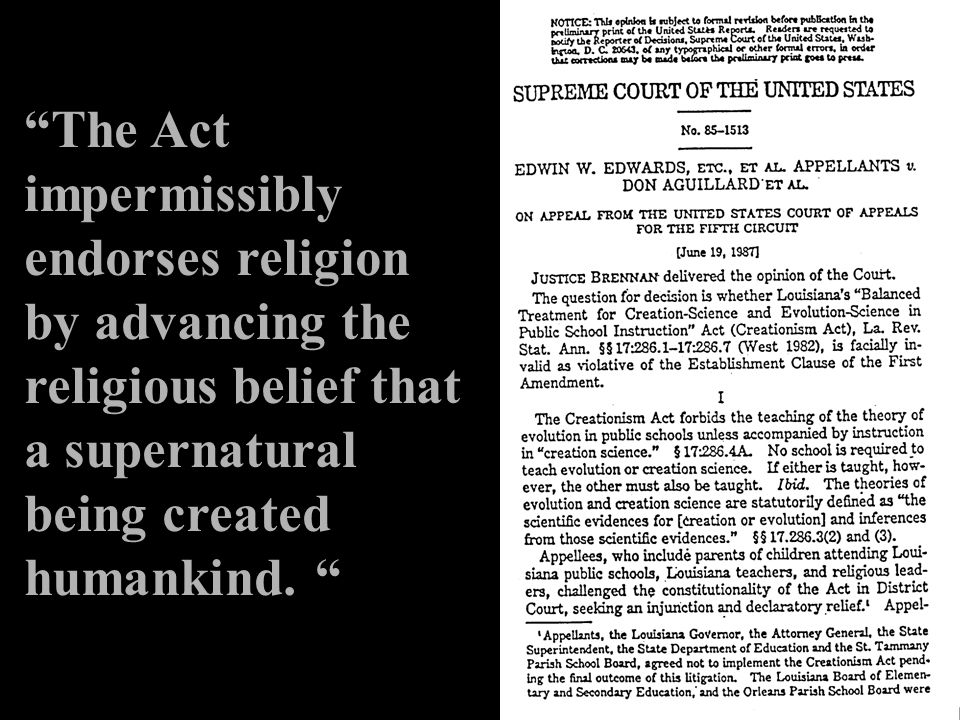 The Act impermissibly endorses religion by advancing the religious belief that a supernatural being created humankind.