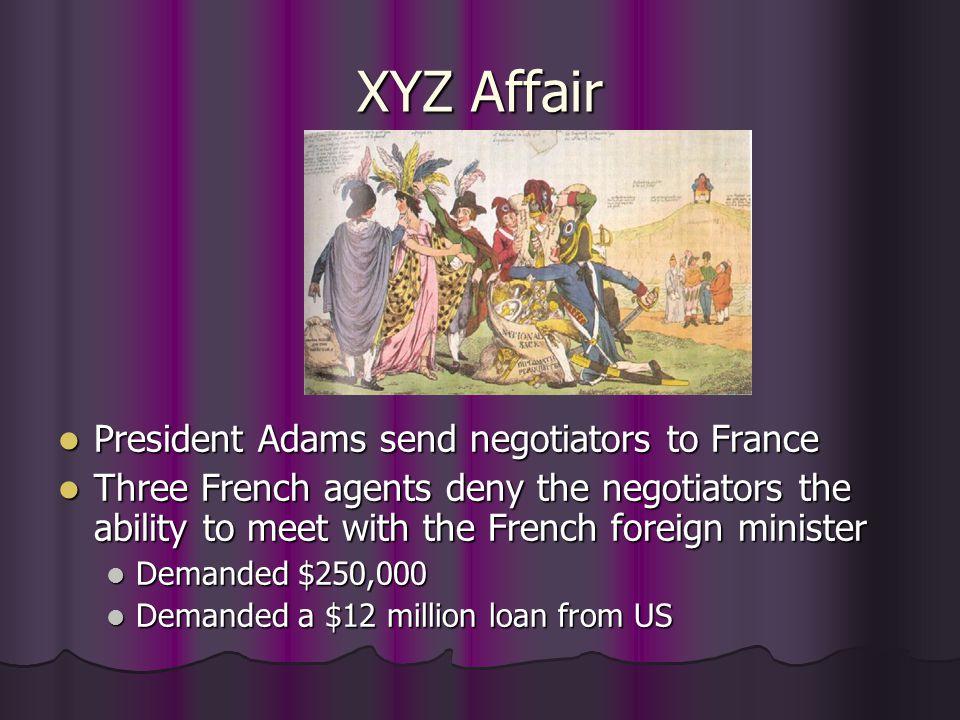 XYZ Affair US Response US Response No, no; not a sixpence No, no; not a sixpence U.S.