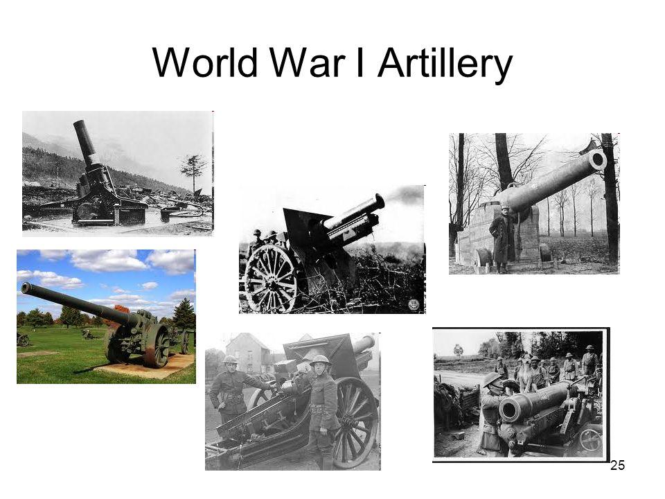 25 World War I Artillery
