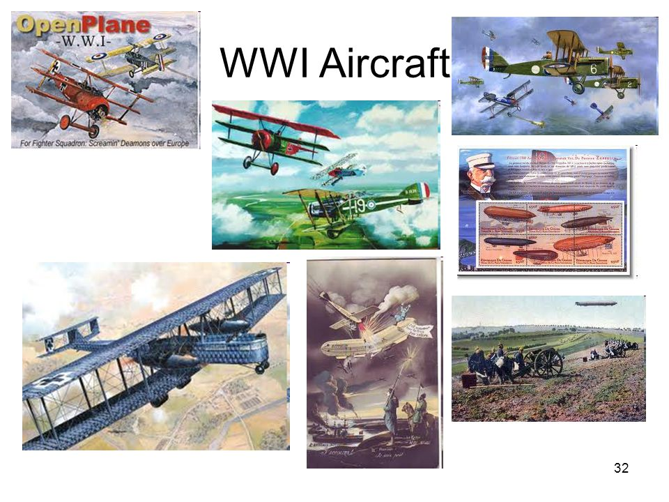 32 WWI Aircraft