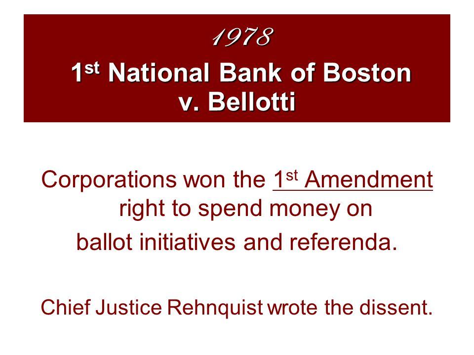 1978 1 st National Bank of Boston v.
