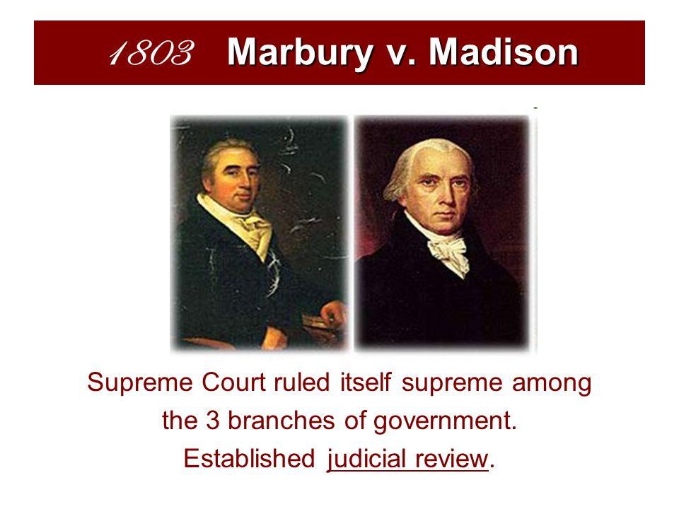 Marbury v. Madison 1803 Marbury v.