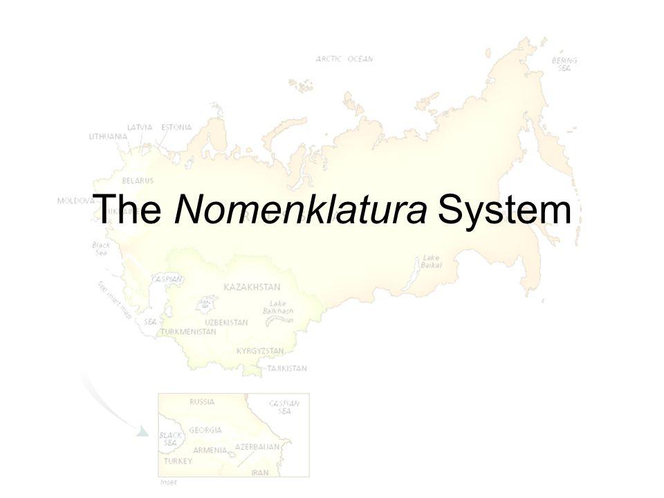 The Nomenklatura System