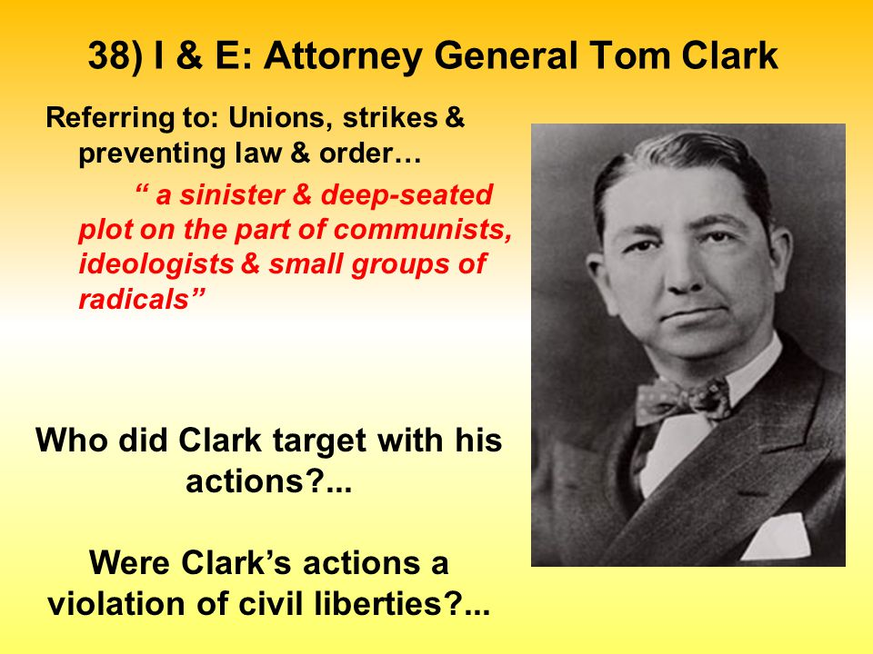 The Legacy of McCarthyism - Results in repressive federal & state laws… i.e.