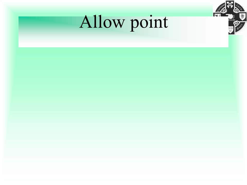 Allow point