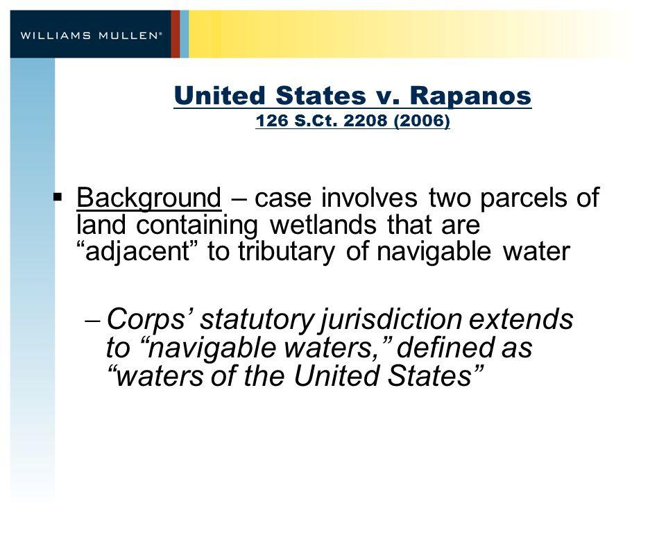 United States v. Rapanos 126 S.Ct.