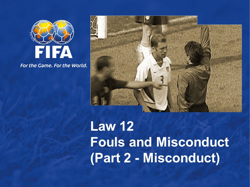 12 Cautionable Offences T here are seven offences for which a player is cautioned and shown the yellow card if he: 1.is guilty of unsporting behaviour 2.shows dissent by word or action 3.persistently infringes the Laws of the Game 4.delays the restart of play 5.fails to respect the required distance when play is restarted with a corner kick, free kick or throw-in 6.enters or re-enters the field of play without the referee's permission 7.deliberately leaves the field of play without the referee's permission