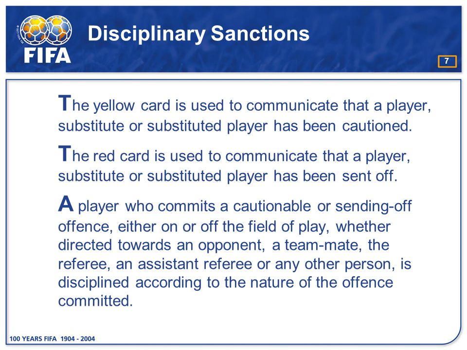 28 Caution for showing dissent by word or action A player who is guilty of dissent by protesting (verbally or nonverbally) against a referee's decision must be cautioned.