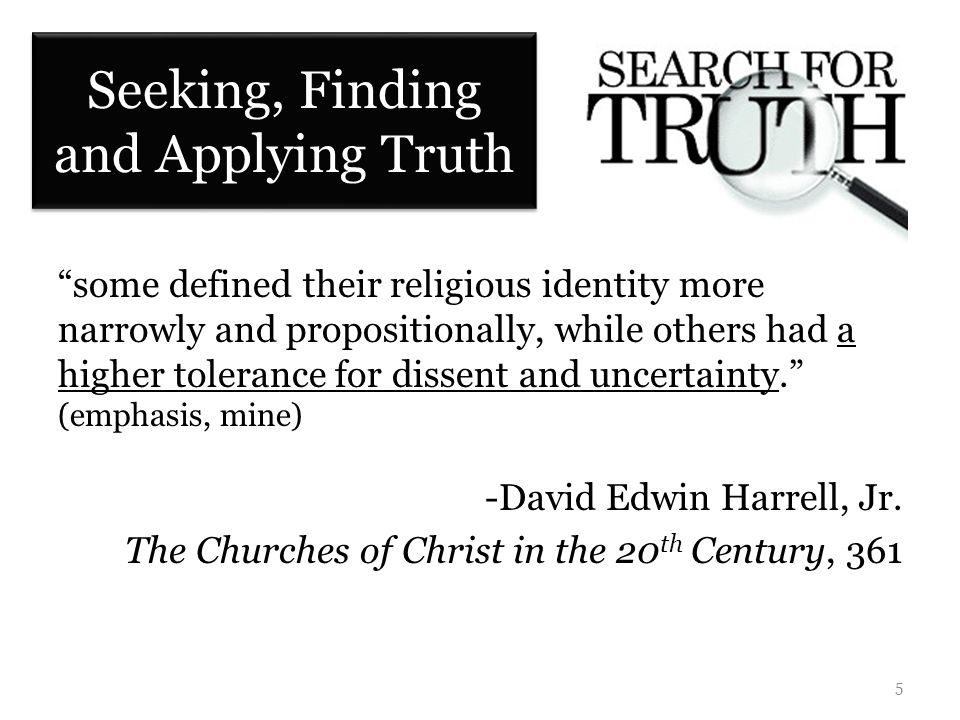 Unity: In Truth or in Seeking Truth.