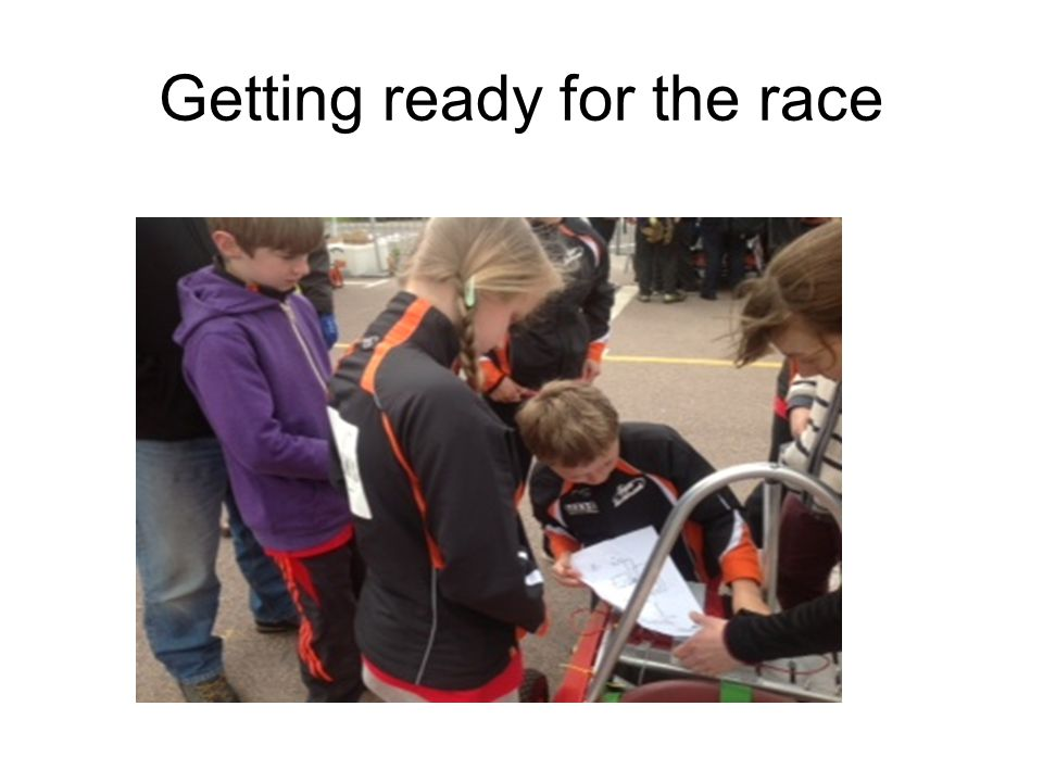 Getting ready for the race