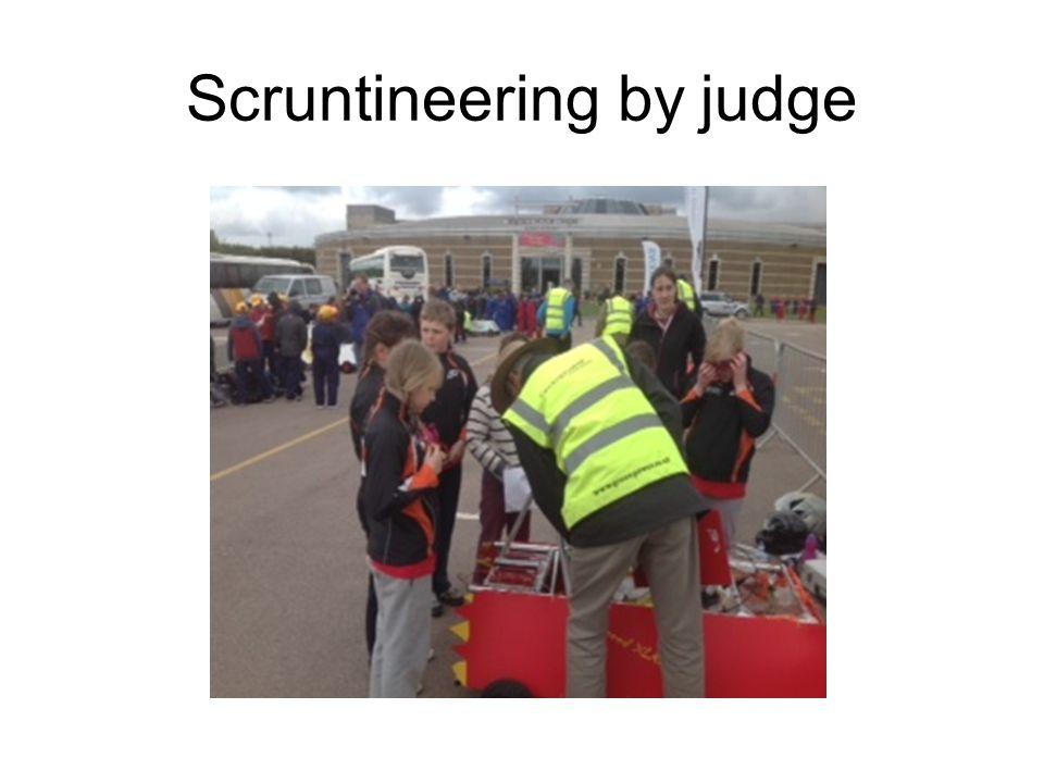 Scruntineering by judge